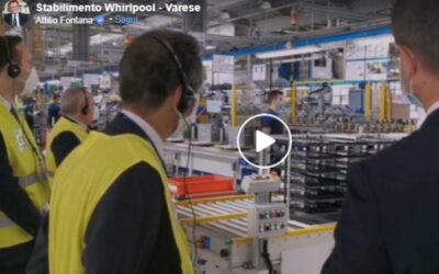 Il Governatore Fontana in visita all'impianto realizzato da Inno.Tec per Whirlpool